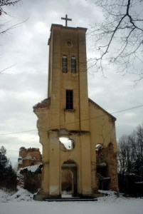 Crkva Male Gospe minirana 28. lipnja 1993.